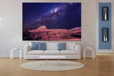 1 piece large pictures, living room multi panel art,landscape photo canvas, landscape blue artwork