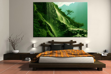 bedroom decor, 1 piece wall art, landscape green pictures, landscape art, landscape large pictures, landscape artwork