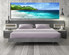 1 piece canvas wall art, bedroom art print, blue ocean large canvas, mountain multi panel canvas