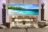 1 piece wall art, multi panel art, mountain large canvas, blue ocean huge pictures, living room photo canvas