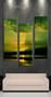 3 piece wall art, multi panel art, green ocean large canvas, bird ocean huge pictures, living room photo canvas