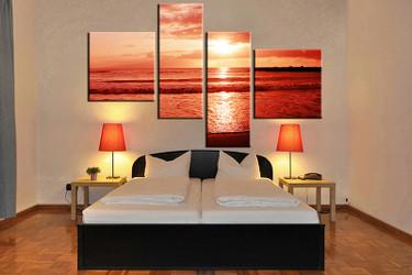 4 piece canvas art print, bedroom art, ocean multi panel art, ocean huge pictures