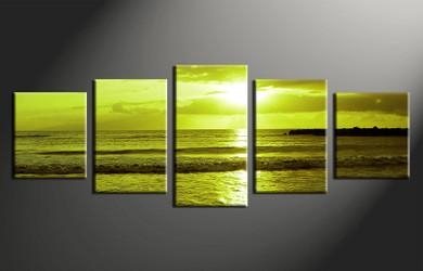 5 piece canvas photography, home decor art, ocean huge pictures, ocean wall decor