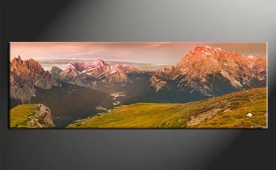 home decor,1 piece canvas art prints, green landscape photo canvas, landscape canvas print,  landscape large   canvas