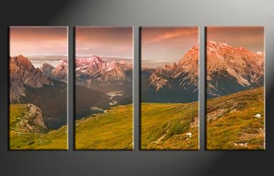 4 piece canvas photography, home decor art, landscape huge pictures, landscape wall decor