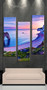 3 piece large pictures, living room multi panel art, blue ocean photo canvas, ocean artwork