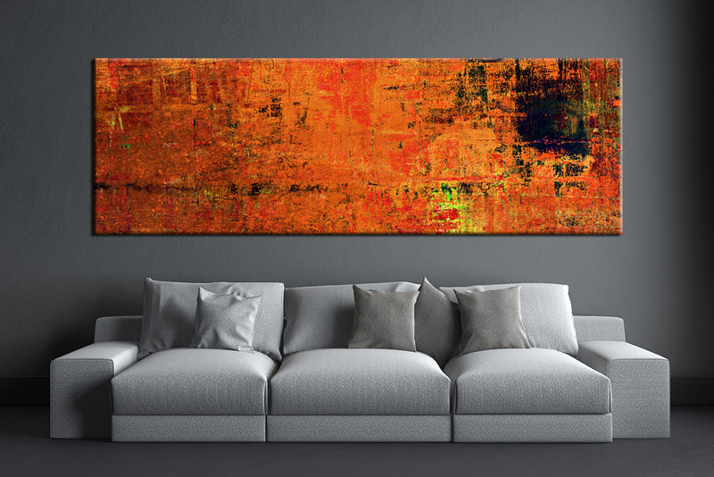 1 Piece Orange Wall Art Abstract Canvas Print,Abstract Wall Art,Large  Abstract Art