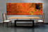 1 piece multi panel canvas, dining room canvas photography, orange abstract wall art, abstract artwork