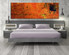 1 piece canvas wall art, bedroom art print, abstract large canvas, orange abstract multi panel canvas