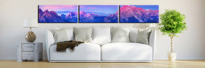 3 piece canvas wall art, living room huge canvas print, blue landscape photo canvas, landscape large pictures