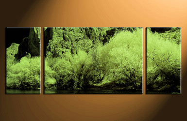 3 piece wall art, home decor landscape artwork, green landscape pictures, landscape canvas print, landscape huge pictures