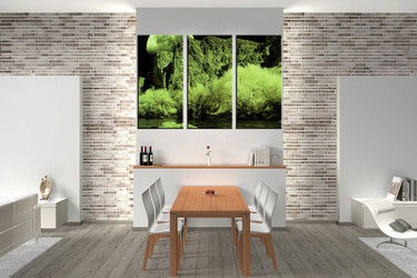 3 piece large canvas, dining room wall art, green landscape pictures, landscape canvas photography