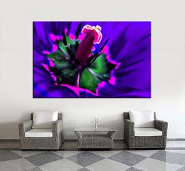 1 piece canvas wall art, living room huge canvas print, blue floral photo canvas, floral large pictures