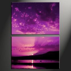 2 piece canvas photography, home decor art, ocean canvas art print, ocean huge pictures