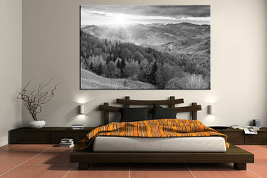 1 piece canvas art print, bedroom art, scenery multi panel art, landscape grey huge pictures