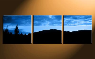 3 piece photo canvas, home decor artwork, landscape blue multi panel canvas, landscape canvas photography