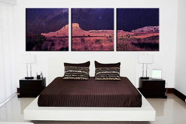 3 piece canvas print, bedroom canvas photography, landscape orange pictures, landscape canvas art print, landscape wall art