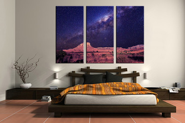 3 piece canvas wall art,  bedroom art print, orange landscape large canvas, landscape multi panel canvas, landscape art