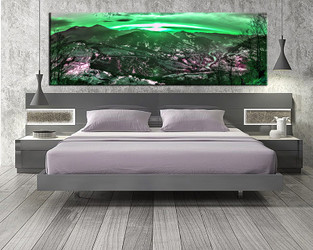 1 piece canvas wall art, bedroom art print, landscape green large canvas, landscape multi panel canvas