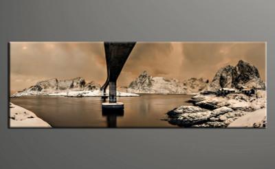 1 piece canvas photography, home decor art, landscape brown canvas art print, landscape huge pictures