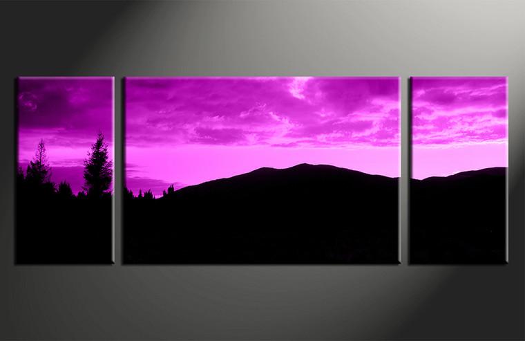 home decor, 3 piece canvas art prints, purple landscape photo canvas, landscape canvas photography, landscape large pictures
