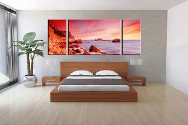 3 piece canvas wall art, bedroom ocean artwork, ocean pictures, ocean canvas print, ocean artwork