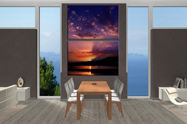 2 piece canvas wall, ocean art, dining room pictures, ocean large pictures, ocean artwork