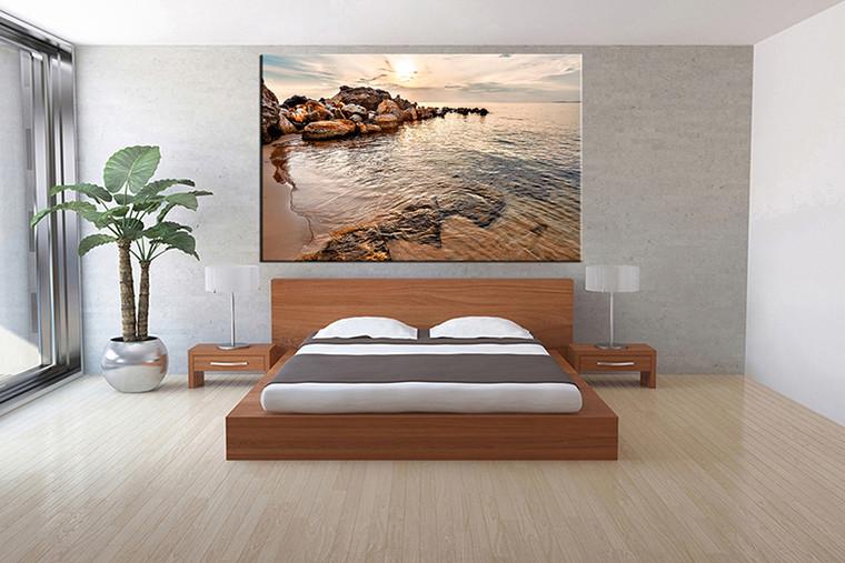 1 piece canvas art print, bedroom wall art, ocean canvas photography, ocean artwork, ocean art