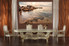 1 piece large canvas, dining room canvas wall art, ocean brown artwork, ocean huge pictures, ocean art