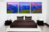 3 piece canvas wall art, landscape orange wall art, landscape multi panel canvas, landscape panoramic artwork