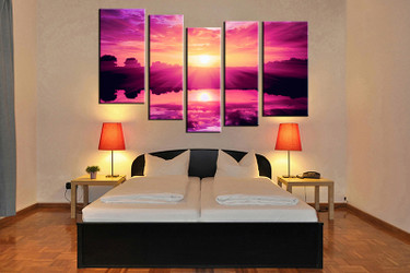 bedroom decor, 5 piece canvas wall art, ocean multi panel canvas, ocean canvas prints, ocean canvas photography