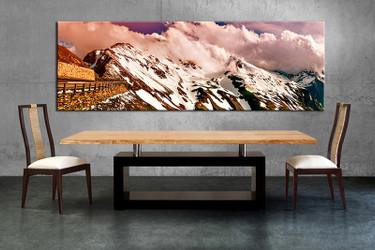 1 piece large pictures, dining room wall decor, white landscape group canvas, landscape artwork