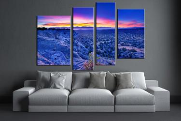 4 piece canvas photography, living room pictures , blue landscape huge pictures, landscape wall art, landscape artwork, landscape canvas print