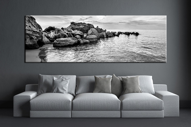 1 Piece Wall Art Living Room Large Canvas Black And White Huge Pictures