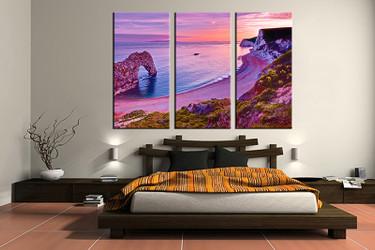 3 piece canvas wall art, bedroom art print, ocean large canvas, ocean multi panel canvas