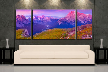 3 piece wall art, multi panel art, landscape large canvas, landscape huge pictures, living room photo canvas