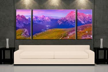 3 piece wall art, multi panel art, landscape large canvas, landscape huge pictures, living room photo canvas