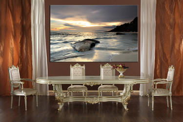 1 piece multi panel art, dining room canvas photography, ocean wall art, ocean large pictures