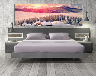 1 piece large pictures, landscape  art, bedroom multi panel art, white landscape photo canvas, landscape artwork