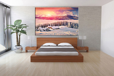 1 piece canvas wall art, bedroom art print, white landscape large canvas, landscape multi panel canvas, landscape art