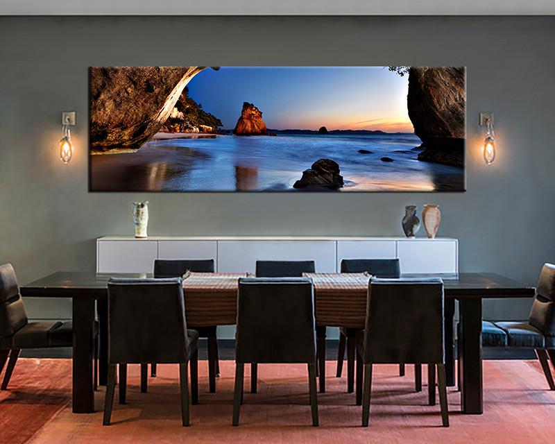 1 Piece Canvas Print Blue Ocean Wall Art