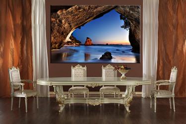 1 piece wall art, dining room canvas photography, ocean blue wall art, ocean artwork