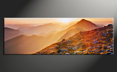 home decor art, 1 piece canvas art prints, orange landscape canvas print, landscape group canvas, landscape pictures