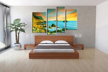 bedroom decor,4 piece canvas wall art, ocean multi panel canvas, ocean canvas prints, ocean canvas photography