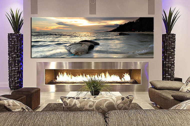 1 piece wall art, living room large canvas, ocean huge pictures, ocean multi panel canvas