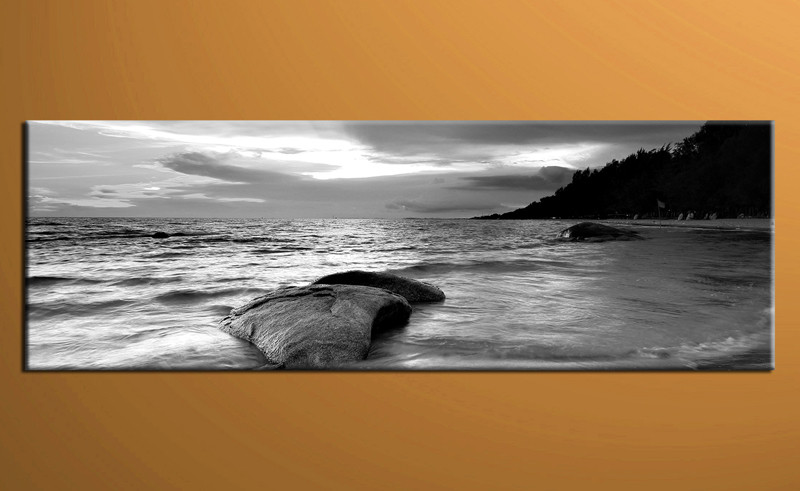 1 Piece Black And White Ocean Large Pictures