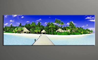 1 piece photo canvas, home decor artwork, ocean blue multi panel canvas, ocean canvas photography