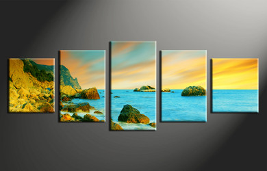 home decor,5 piece canvas art prints, ocean photo canvas, ocean canvas print, ocean large canvas
