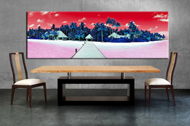 dining room wall art, 1 piece wall art, red ocean huge pictures, ocean artwork, ocean pictures