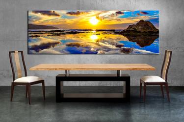 1 piece multi panel canvas, dining room canvas photography, ocean wall art, ocean artwork